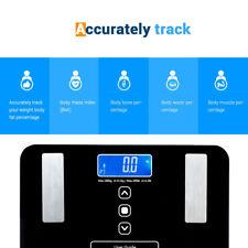 Digital Body Fat BMI Scale Water Muscle Calorie Bone Bathroom Weight 400lb