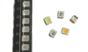 50x SMD LED PLCC-2 3528 1210  warm weiß - blau - rot - grün - gelb- amber- RGB