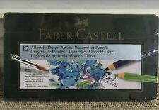 Faber-Castell 12 Albrecht Durer Watercolor Pencils, In Metal Tin Case, Sealed!