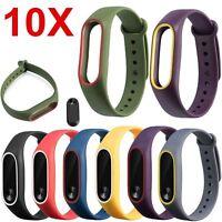 10 Stück Silikon Wrist Strap Sport Bracelet für Xiaomi Mi Band 2 Armband Tracker
