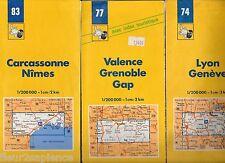 Lot de 8 Cartes routières Michelin années 80 et 90