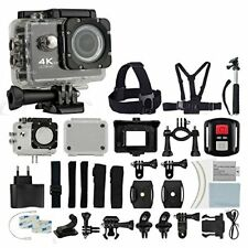 4K Ultra HD DV 12MP 1080p 60fps Action Camera Black + Top Value Accessory Kit