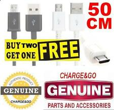 Samsung S2 S3 S4 White Ect Cable Lead Short 50cm Micro B USB Data Charger 19