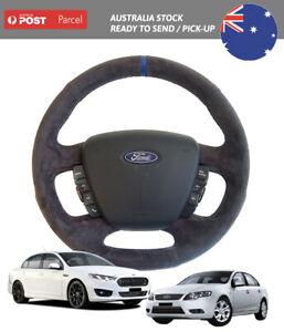 Ford Falcon FG Black Alcantara Suede Steering Wheel for FG1 FG2 FGX XR6 FPV F6
