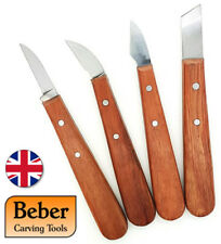 BCCS Beber Four Piece Chip Woodcarving Tool Set - Made in the UK
