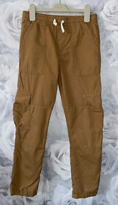 Boys Age 9-10 Years - H&M Tan Cargo Trousers