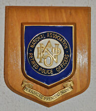 National Association of Retired Police Officers Berkshire plaque shield NARPO