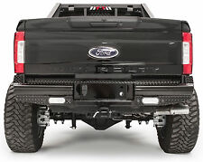 2017 Ford F250/F350 Super Duty Fab Fours Black Steel Rear Bumper FS17-T4150-1