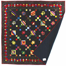 Amish style Basket / Roman Stripe Great borders FINISHED QUILT - Masculine gift
