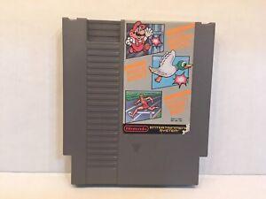 Super Mario Bros. / Duck Hunt / World Class Track Meet Nintendo NES, Tested