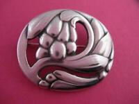 Sterling Silver GEORG JENSEN Pin Brooch Ginger Blossom no. 65 Denmark