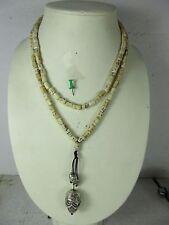 alte Totenkopf Halskette Mala Knochen & 925 Silber  original Tibet ~1960 116 cm