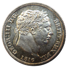 More details for 1816 king george iii silver shilling coin great britain - unc