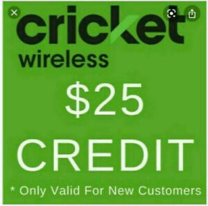 Cricket Wireless $25 referral code and link