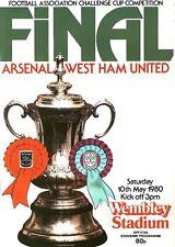 FA CUP FINAL PROGRAMME 1980 West Ham United v Arsenal