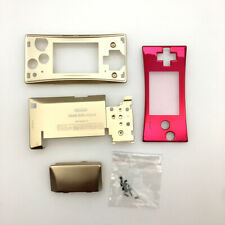 Gold Full Housing Shell Case Front Case Cover for Nintendo Gameboy Micro GBM