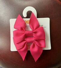 Gymboree Girls Hair Clips x 2 -  Pink Bows,Brand New (G17)