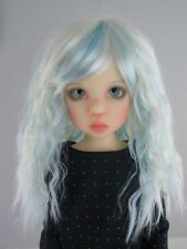 """Doll Wig, Monique Gold """"Snow"""" Size 8/9 in White w Light Blue"""