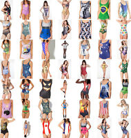 Sexy Women's Print One-Piece Bikini Swimwear Swimsuit Beachwear Monokini Dress