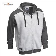 JCB Mens Hooded Fleece Hoodie Regular Fit Full Zip Jacket Two Tone S to 2XL