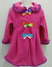 Goodlad Girls 3t Adorable Princess Winter Fleece Pink Coat With Ruffles & Bows