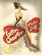 LATIN QUARTER PHOTOS AND SONGS ~ A VINTAGE PROGRAMME FOR LOU WALTERS SHOWS