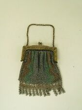 New listing Antique Chain Link Mesh Purse, gold tone