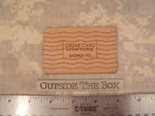 "Emergency/Survival:  ""Fire Card"" Credit Card Size, Perforated Cedar Kindling"