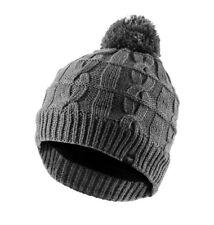 Sealskinz Waterproof Cable Knit Unisex Bobble Hat S/m Grey Marl 13100024000015