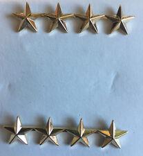 4 Star General Uniform Military Army Marines Costume Collar Brass Insignia Pins