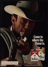 1975 MARLBORO Man Cowboy Smokes Cigarette w/ Zippo Lighter VINTAGE ADVERTISEMENT