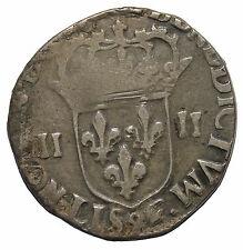 France 1587 henri III 1574-1589 AD Silver 1/4 Ecu C.1438