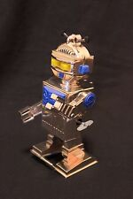 Soviet Russian USSR vintage wind up step robot cildren toy kids buzz walk VIDEO