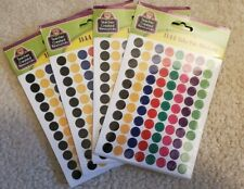 4 Sets Mini Colorful Circles Valu-Pak Stickers Teacher Created Resources Tcr4743