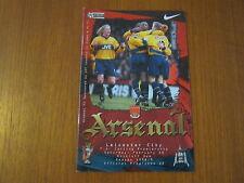 Arsenal v Leicester City - FA PL  - Season 1998 - 99 (VGC).