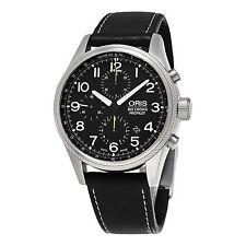 Oris Men's Big Crown Pro Pilot Black Strap Chronograph Watch 77476994134LS19
