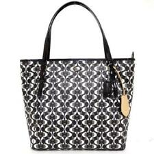 $328 NWT COACH PEYTON DREAM C PURSE SHOPPER TOTE BAG F~27350 BLACK WHITE SILVER