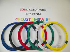 18 TXL HIGH TEMP AUTOMOTIVE WIRE 6 SOLID COLORS 10 FEET EACH 60 FEET TOTAL