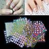 50 Sheets Flower 3D DIY Women Nail Art Transfer Stickers Decals Manicure Decors