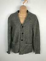 WOMENS ABERCROMBIE & FITCH GREY KNITTED V NECK CARDIGAN JACKET BUTTON UP SIZE M