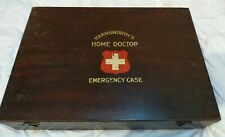 More details for vintage wooden harmsworth doctors home medical box 16x10x3in & contents see pics