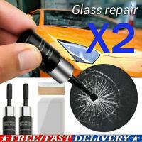 2Set Automotive Glass Nano Repair Fluid- Auto Front Car Windshield Crack Repair