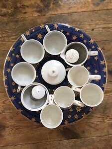 17 Piece Sakura Galaxy Fine Porcelain China Blue/White With Gold Stars