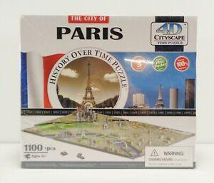 The City Of Paris~1100 pc History Over Time Puzzle~ 4D Cityscape / Time Puzzle