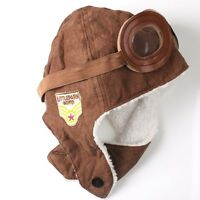 Winter Baby Earflap Toddler Girl Boy Kids Pilot Aviator Cap Warm Beanie Hat MA