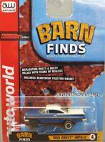 HO Slot Car - Auto World ThunderJet Ultra-G- Barn Finds - 59 Chevy Impala Blue