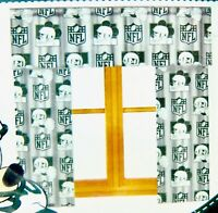 NFL Football NY Jets Mickey Mouse Curtains Green White Panel Fits 36 - 48 Window
