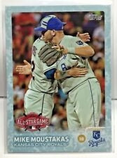 Mike Moustakas 2015 Topps Update Series SNOW CAMO Border Parallel #'d 74/99