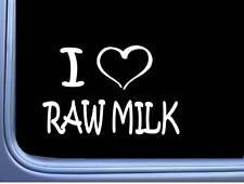 """I Heart Raw Milk L835 8"""" Sticker Decal Milking Machine Milker Cow Holstein Cattl"""