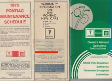 1975 GM Pontiac Owners Manual - Grand Ville Brougham - Bonneville